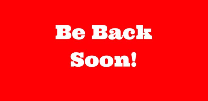 Be Back Soon icon